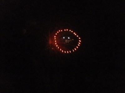 スマイルマークの花火