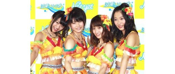 北原里英、横山由依、大島優子、指原莉乃(写真左から)