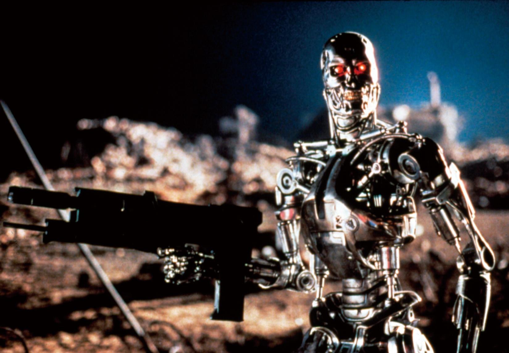 『ターミネーター2』(91) 人工知能がつくった人類殲滅のためのマシン。スタン・ウィンストンがつくり上げたエンド・スケルトンからは、恐るべき殺人兵器であることが伝わる