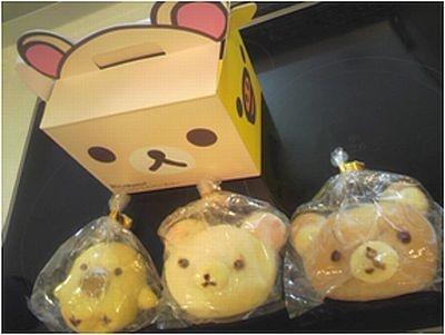 「リラックマ 天然酵母のパンセット」(1260円/3個セット)