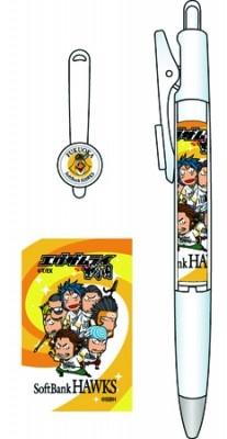 エグザムライ 戦国×福岡ソフトバンクホークス クリップボールペン 全1種類 価格:525円(税込み) 参考サイズ:長さ約148mm、直径12.2mm