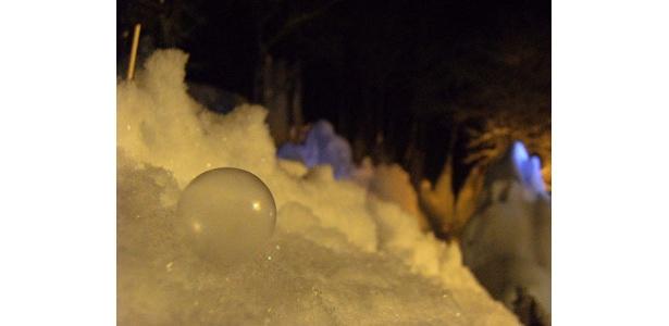 シャボン玉が凍る!様子はその目で確かめよう
