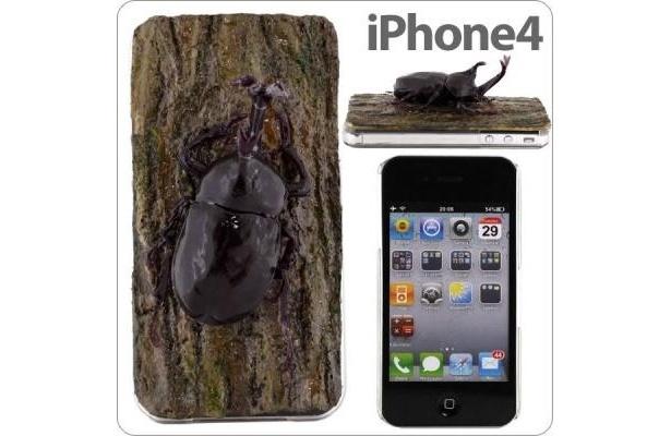 どっきりいたずらカバーシリーズ「iPhone4専用★カブトムシカバー」(3990円)