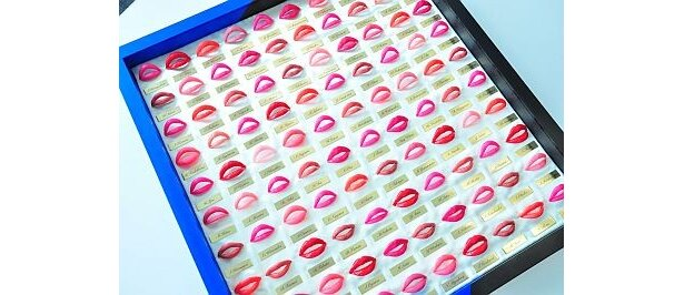 唇のシワまで精巧に再現された女子大生100人の実物大シリコン唇