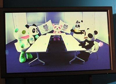 パンダたちが会議する様子