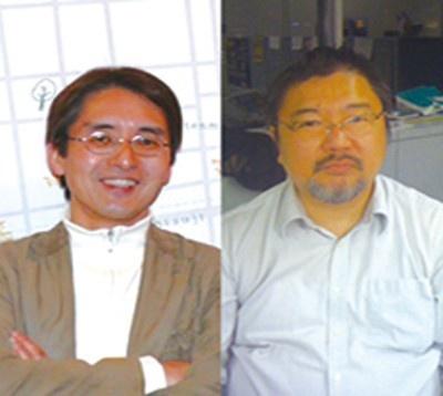 堂野所長(左)、関西ウォーカー編集長の玉置(右)