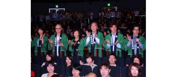 闘病中の原田芳雄は登壇なし。『大鹿村騒動記』初日舞台挨拶