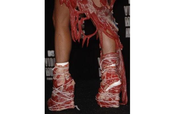 生肉ドレスは剥製職人による巧の技で、長期保存に耐えられるように補修された