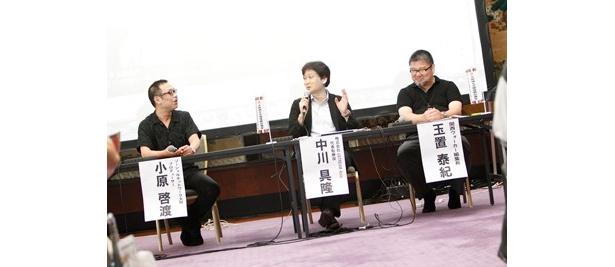 中川社長、SNOプロデューサー小原啓渡氏、玉置泰紀関西ウォーカー編集長