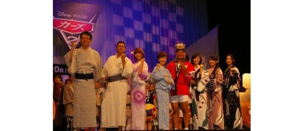 【写真】『カーズ2』のジャパンプレミアに登場した一同