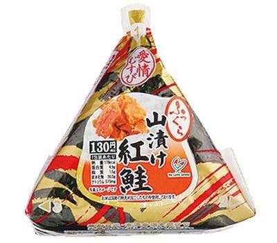 手巻 山漬け紅鮭(130円/ファミリーマート)のパッケージ
