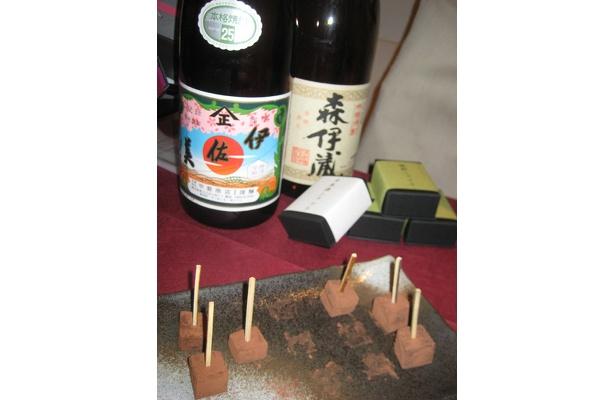 森伊蔵ほか銘酒を使用したショコラはパティスリー アンファンスの焼酎ショコラ6個入り1260円