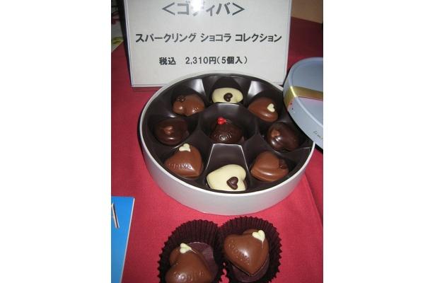 ゴディバの新作は口の中で弾ける食感が楽しめるスパークリング ショコラ コレクション5個入り2310円