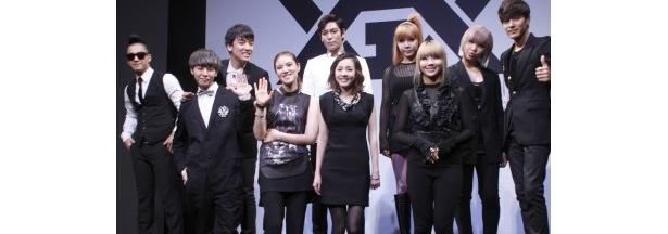 21日(木)、都内で行われた新プロジェクト設立記者会見には、新レーベル所属アーティストのBIGBANG、2NE1らが出席