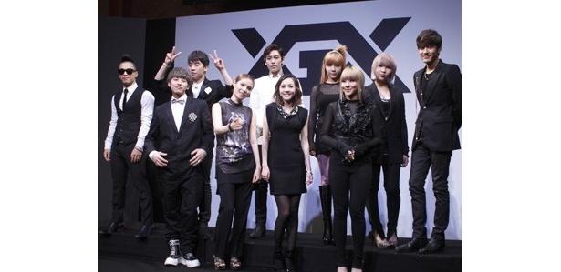 さらに、新人アーティストが日韓同時にデビューするというビッグニュースも発表された「YGEX」