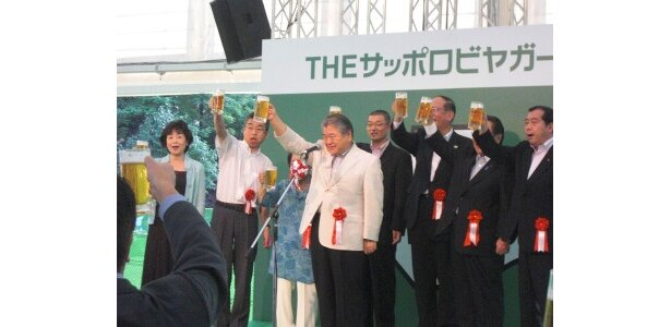 オープニングセレモニーでは札幌市上田市長による乾杯も