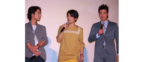 佐藤隆太、岡田義徳、柏原収史は、普段から仲良しなので、幼なじみ役はばっちり