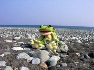 海辺のケロミン