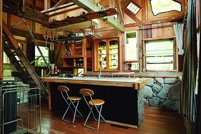 キッチンは田舎の喫茶店のよう