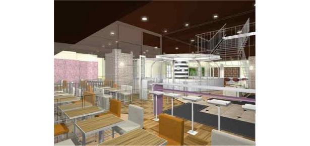 店内飲食ができる約100席の客席スペースが!