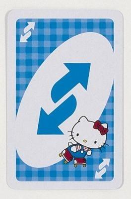 リバースカードではスケートをしているキティちゃんが