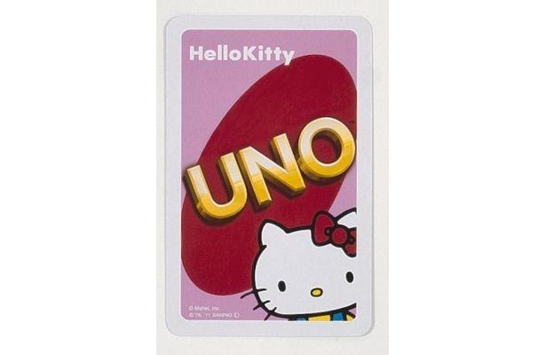 カード裏面にはのぞきこむキティちゃん