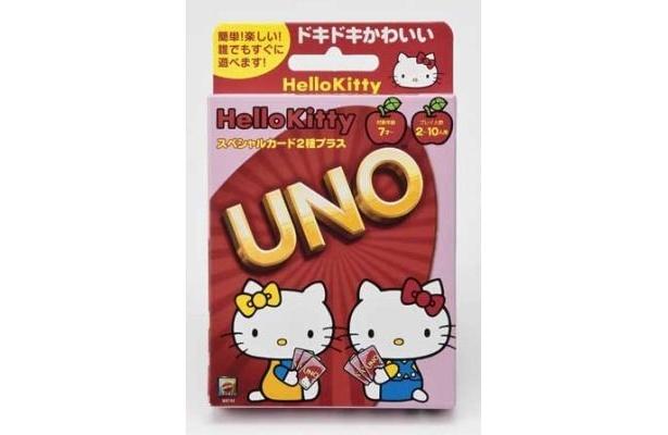 双子の妹・ミミィちゃんと仲良くUNOをしているパッケージデザイン