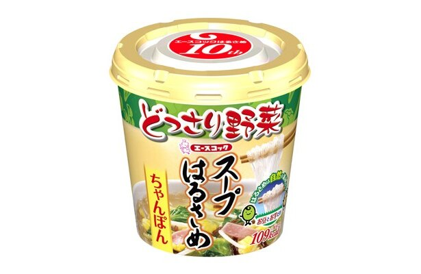 8月15日(月)から発売される新商品「ちゃんぽん」。どっさり入った野菜と飽きの来ないスープで、新定番メニューのポジションを狙う