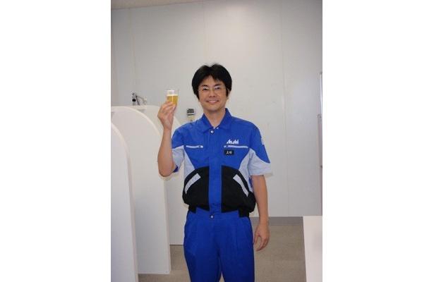 講師の上村和彦さん(アサヒビール株式会社醸造研究所)