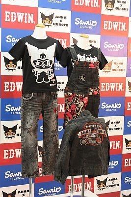土屋アンナさんプロデュースの商品はエドウィンより2012年の春に展開を開始。2011年12月には限定品が先行発売される予定
