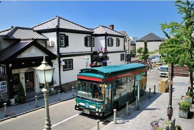 かわいいバスに乗って北野町へ行こう