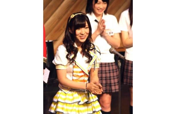 観客から寄せられたワード「新陳代謝」をセクシーに言い切る岩佐美咲