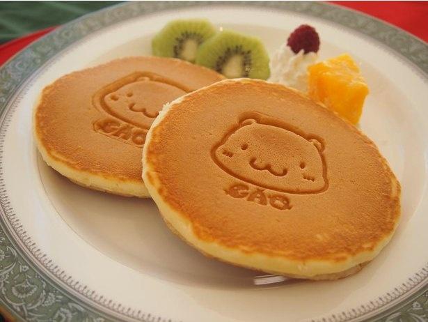 豪太の焼き印が入った「ホットケーキ」は子供の食事メニューとしてもおすすめ