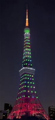 「インフィニティ・ダイヤモンドヴェール」クリスマス(12月24・25日)の点灯イメージ