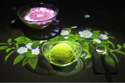 「凍結玉緑茶(玉緑茶のアイスクリーム)セット」(税込1200円)
