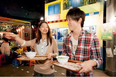 アジアのナイトマーケットをイメージした「NOODLES BAZAAR -ワールド麺ロード-」