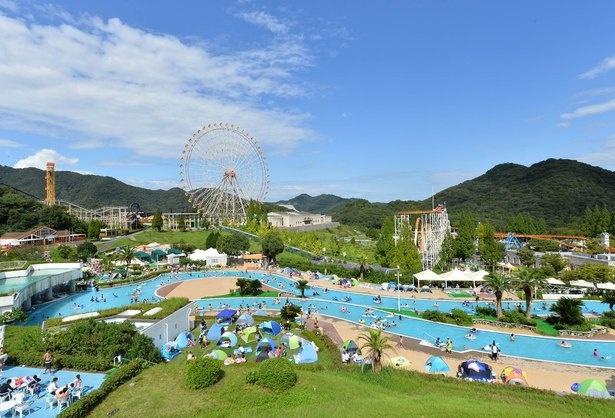 西日本最大級の広さを誇るリゾートプール「アクエリア」