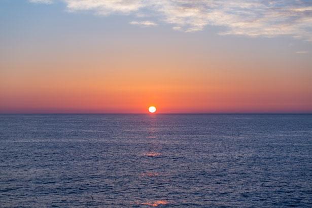 天気がいい日には、日の出の絶景を見ることもできる