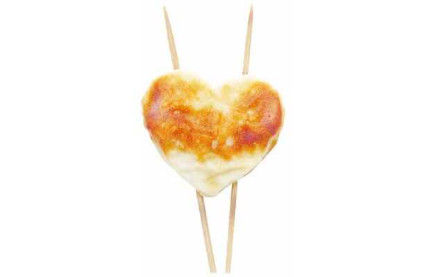 こんがり焼けたハート型、バレンタイン焼きぼこ