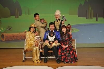 テレビ番組で人気のチンパンジー・プリンちゃん、ブルドッグの2代目ジェームスなどが舞台で大奮闘!