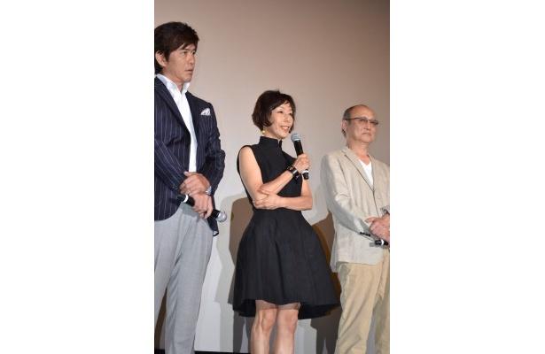 「原田さんに大ヒットの報告ができて嬉しい」とコメントした大楠道代
