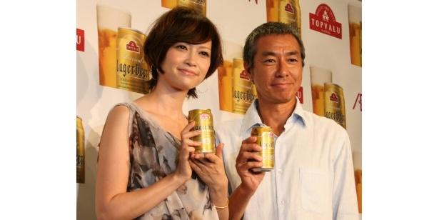 イベントに登場した柳葉敏郎と辺見えみり