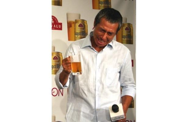自分で注いだビールの味は、やっぱり最高!「めちゃくちゃおいしい!」