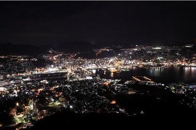 世界新三大夜景にも選ばれた稲佐山展望台からの夜景