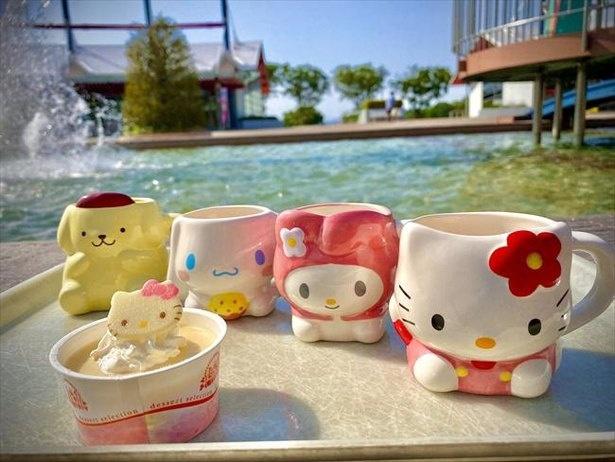 【写真】サンリオキャラクターズミニカップがキュート。カップの持ち帰りも可
