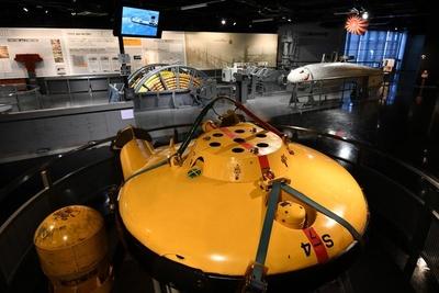 「機雷処分具S-4」。有線で操作し、機雷付近に爆雷を設置させ、機雷を誘爆させるためのもの