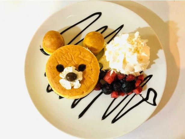 ZOO CAFEの「くまさんパンケーキ」(税込750円)