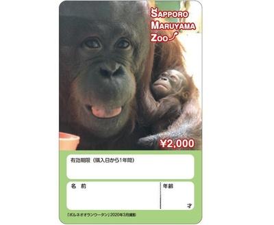 【写真】年間パスポートは、オランウータンのかわいい写真が目印