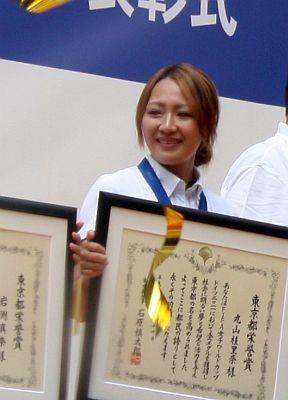 なでしこジャパンのビジュアル担当・丸山桂里奈選手