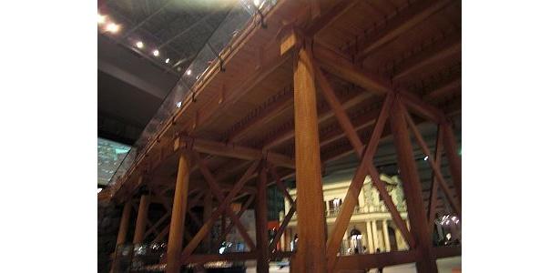 館内で江戸時代のものに再現された日本橋